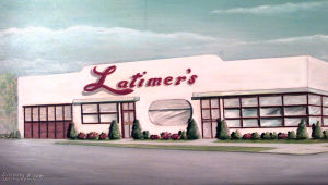 BEQUEST.5710: A copy of a painting of the Latimer Bakery in Wildwood. - DAN DRAKE