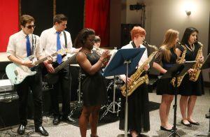 Teen Arts Festival: Oakcrest's Jazz Ambassadors students at Oakcrest High School perform at the Eagle Theatre at county Teen Arts Festival in Hammonton Friday, May 2, 2014. - Edward Lea