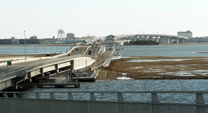 Work on route 52 bridge project linking ocean city somers for Atlantic city fishing pier
