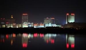 icon atlantic city skyline night