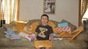 Boy who  loves mail gets a deluge