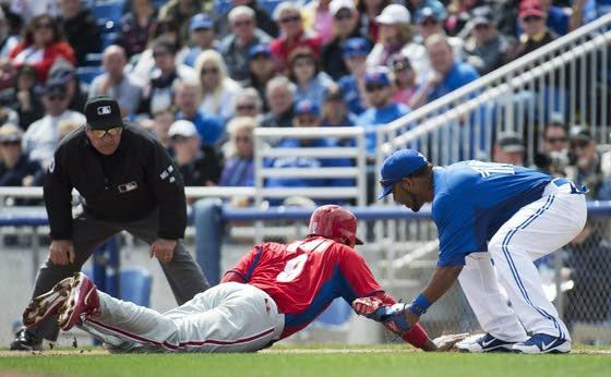 Ryan belts homer off Dickey, but Phillies lose to Blue Jays
