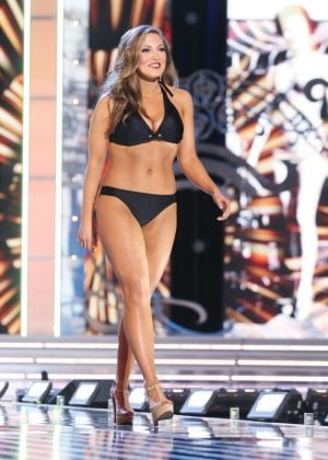 Miss America 2 PRELIMS: Miss Vermont Jeanelle Achee contestant walks the runway during swimsuit portion of the preliminary second round of the Miss America pageant at Boardwalk Hall in Atlantic City, New Jersey, September 11 2013 - Photo by Edward Lea