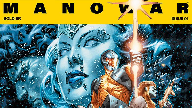 Preview art of Valiant's 'X-O Manowar' #1, out March 22