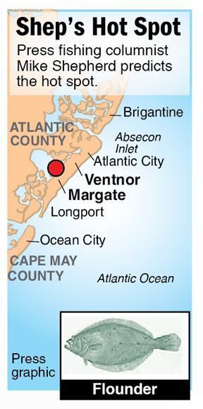 Shep Hot Spot flounder Ventnor Margate back bays