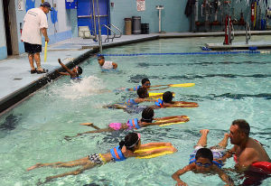 SWIM CLASSES: Monday July 15 2013 Swimming lessons at the pool of the Martin Luther King School Complex in Atlantic City. (The Press of Atlantic City / Ben Fogletto) - Ben Fogletto