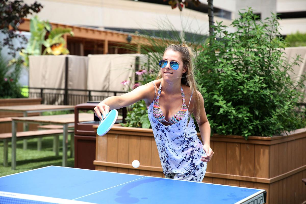 Borgata 39 s beer garden outdoor pool welcome first crowds for Borgata outdoor pool