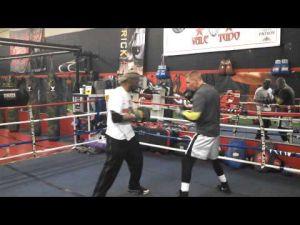 Somers Point boxer Patrick Majewski works out