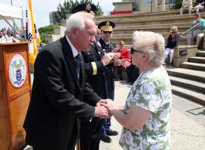 KOREAN WAR VETS: The Commemorative Ceremony, hosted by the New Jersey Korean War Veterans Association, at the Korean War Memorial at Brighton Park, in Atlantic City, NJ, Friday July 26, 2013. - Vernon Ogrodnek