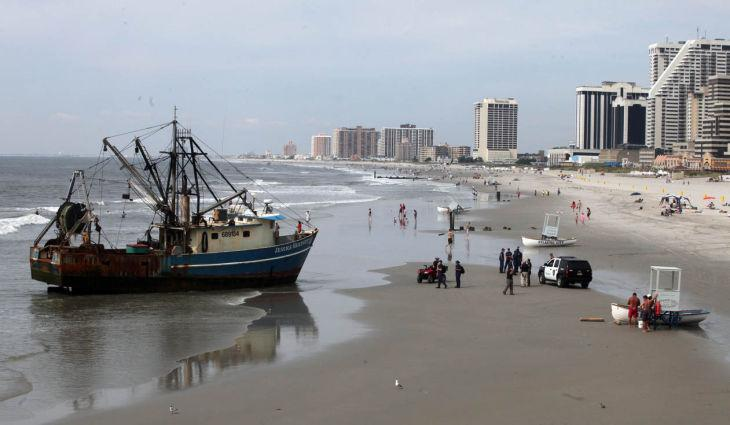 Beached Boat in Atlantic City