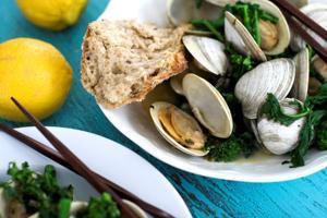 Steamed clams deliver  big flavor, lean protein