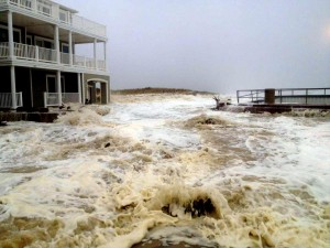 Hurrican Sandy Monday: Sven Peltonen from Brigantine Beach took this photo as Hurricane Sandy approached Monday Oct. 29, 2012.  - Photo by Sven Peltonen