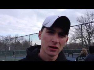Mainland Regional tennis player Ethan Fischer
