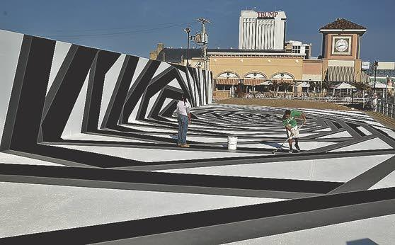 John Roloff's walkable mural is also a stage