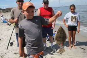 Little anglers take to surf in Ocean City fishing tournament