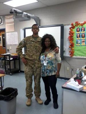 Former student helps P'ville woman connect with U.S. troops overseas