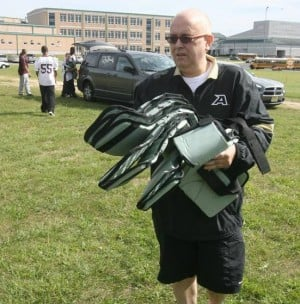 Ventnor resident donates football equipment to Pleasantville High School