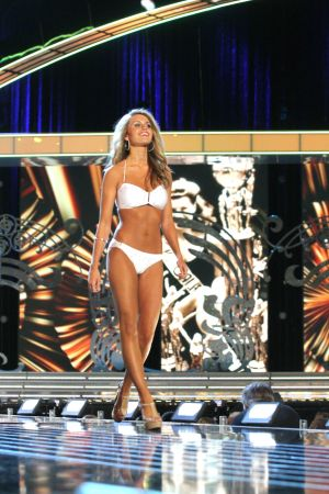Miss America 2 PRELIMS: Miss Louisiana Jaden Leach contestant walks the runway during swimsuit portion of the preliminary second round of the Miss America pageant at Boardwalk Hall in Atlantic City, New Jersey, September 11 2013 - Photo by Edward Lea