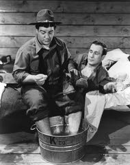 "Lou Costello, left, and Bud Abbott play reluctant recruits in ""Buck Privates,"" the 1941picture that made them movie stars."