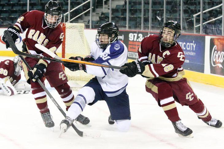 St. Augustine vs Gloucester Catholic Hockey game