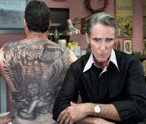 Famed tattoo artist Mark Mahoney  is going strong on the Sunset Strip
