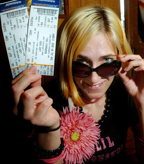 Fans await eccentric pop star Lady Gaga's show at Atlantic City's Boardwalk Hall tonight