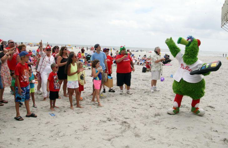 PHILLIES ON THE BEACH