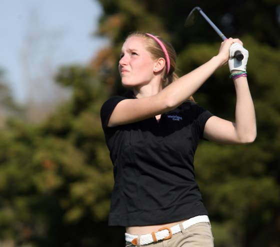 My life: Mainland Regional's Kylie Strijek at home on the golf course