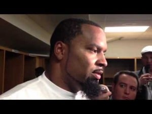 Defensive tackle Cullen Jenkins talks about the Eagles' loss to the Steelers, Oct. 7, 2012