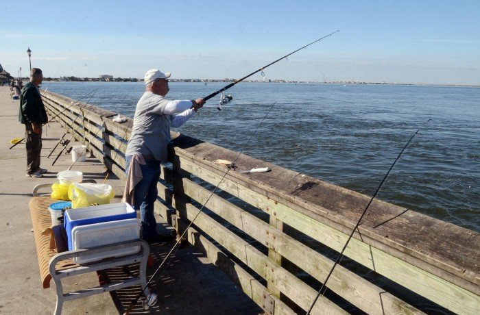 Old south jersey bridges converted to fishing piers prove for Atlantic city fishing pier