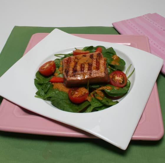 Salmon salad offers taste of the sea and garden