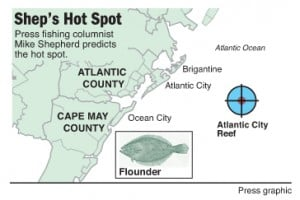 Hot Spot flounder at Atlantic City Reef