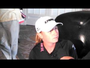 LPGA's Stacy Lewis talks about her donation after Hurricane Sandy