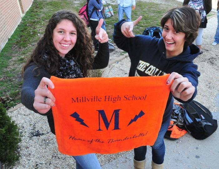 Millville football - students
