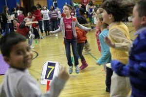 Marsh Elementary School students Jump Rope for Heart to help kids