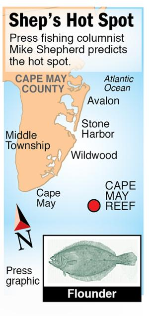 Shep  Hot Spot flounder Cape May Reef