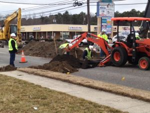 Tilton Road Gas Leak: A section of Tilton Road in Northfield was closed Friday morning after workers struck an 8-inch gas line there.  - VERNON OGRODNEK