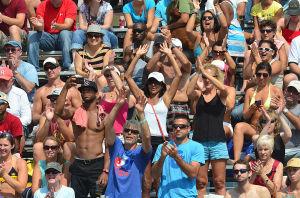AVP VOLLEYBALL FINALS: Sunday September 8 2013 AVP beach volleyball tournament in Atlantic City. (The Press of Atlantic City / Ben Fogletto) - Ben Fogletto