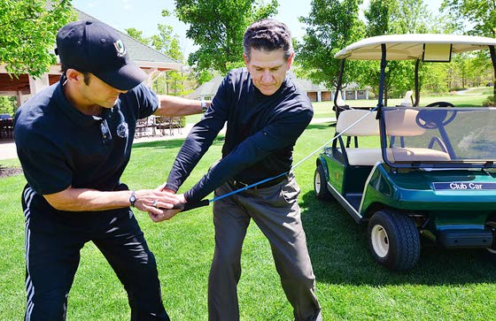 Bands help develop power and flexibility in swing