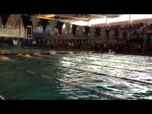 Ocean City's 200 freestyle relay in girls MOC, March 3,, 2013