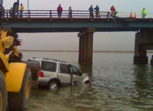 SUV into Corson's Inlet