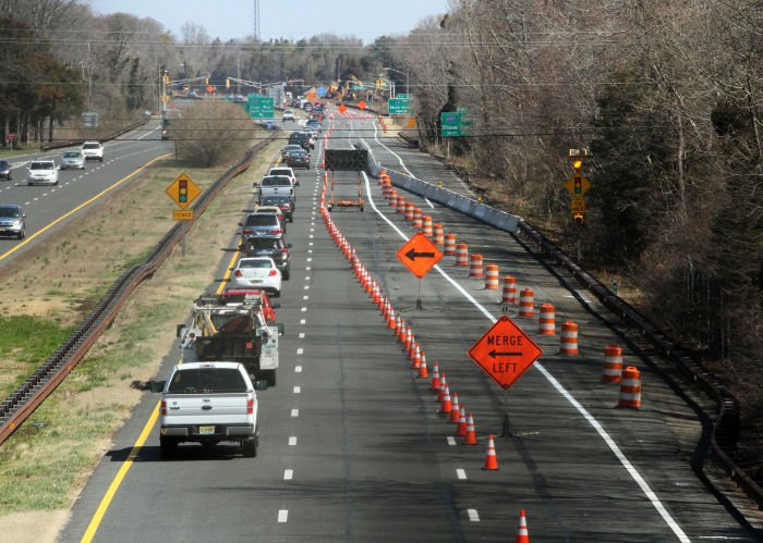 Long Term Detours During Garden State Parkway Work In Cape