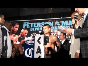 Peterson-Matthysse weigh-in