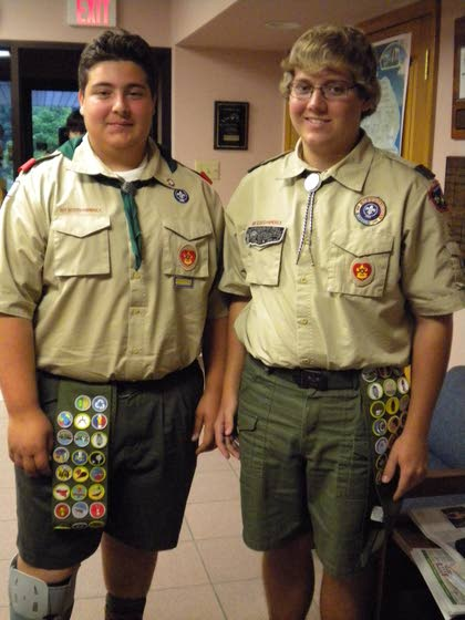Boys tackle service projects on the road to becoming Eagle scouts
