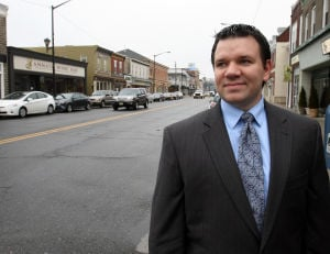 : Ben Ott is the president of Hammonton Mainstreet. Downtown Hammonton is being recognized as a semi-finalist in a national Great American Main Street Award. They are one of eight in the nation. Monday Feb 11, 2013. (Dale Gerhard/The Press of Atlantic City)  - Photo by Dale Gerhard