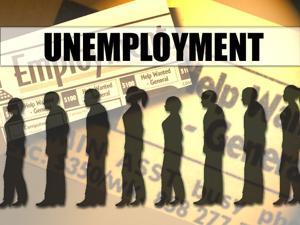 Unemployment jobs graphic