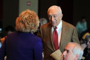 DEMS: State Sen. Frank Lautenberg greets people during the NJ State Democratic Committee Conference held at Bally's Casino Hotel in Atlantic City. Friday May 13 2011.(The Press of Atlantic City/Anthony Smedile) .  - Anthony Smedile
