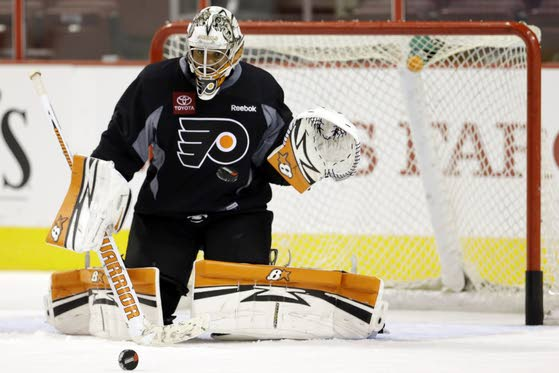 Flyers open camp with uncertainty at goalie