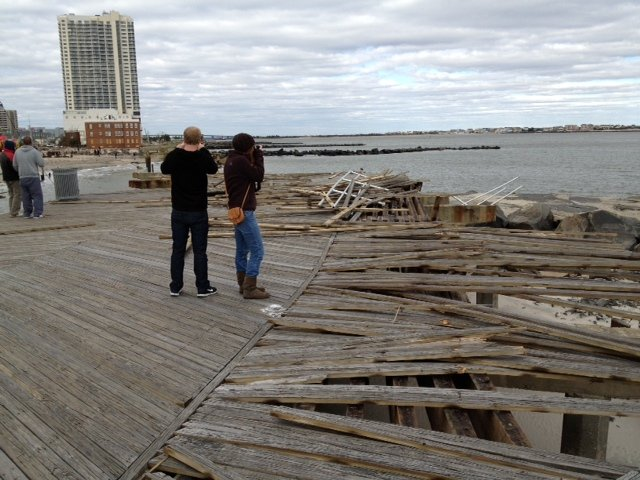 Hurricane Sandy damage in Atlantic City