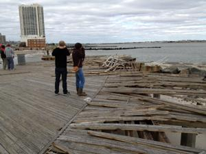 Hurricane Sandy damage in Atlantic City